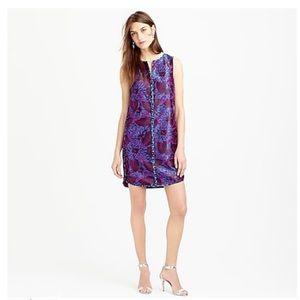 J. Crew Sleeveless Midnight Floral Jacquard Dress